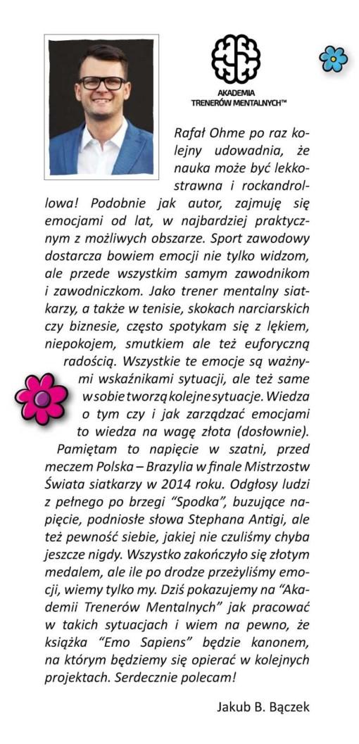 Rafał Ohme EMO SAPIENS - z przedmową Jakuba